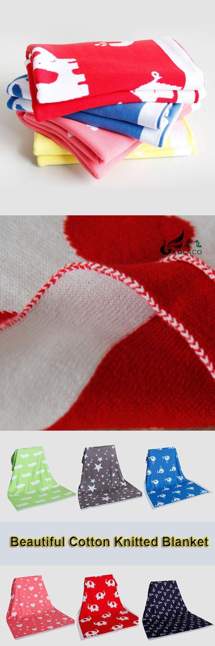 New 2016 Super Soft Cotton Blanket 102x76cm Blankets sofa/air plain throws Newborn mantas cobertores Crib Casual free shipping