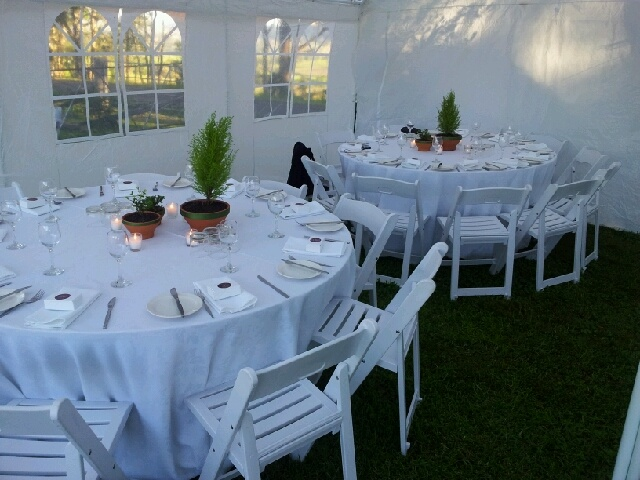 #marquee #whitefoldingchairs