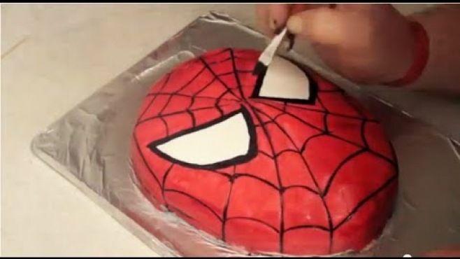 Erkek Çocunuz İçin Spider Man Yaş Pasta Tasarımı - Özel günler için erkek çocuğunuza yaratıcı Spider Man keki yapılışı