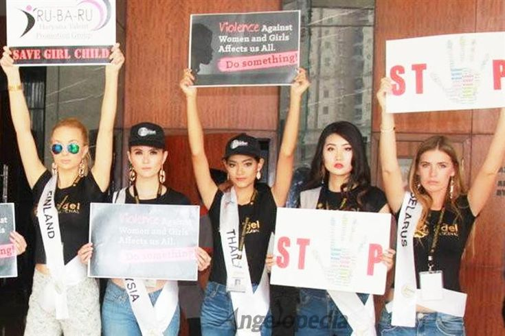 Supermodel International 2016 finalists voiced their concern against female foeticide & violence