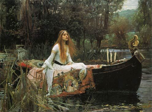 Pre-Raphaelites Artist John William Waterhouse's painting 'The Lady of Shalott' I love this painting every couple of years I have to go and look at it at the Tate