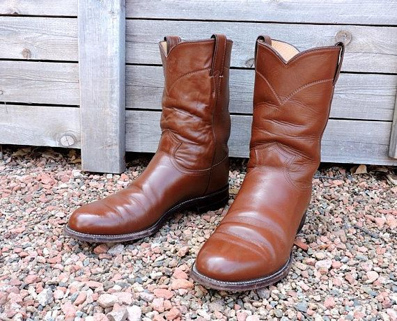 8fa54bd819f Justin boots mens 9.5 D / Justin Ropers USA / vintage cowboy boots ...