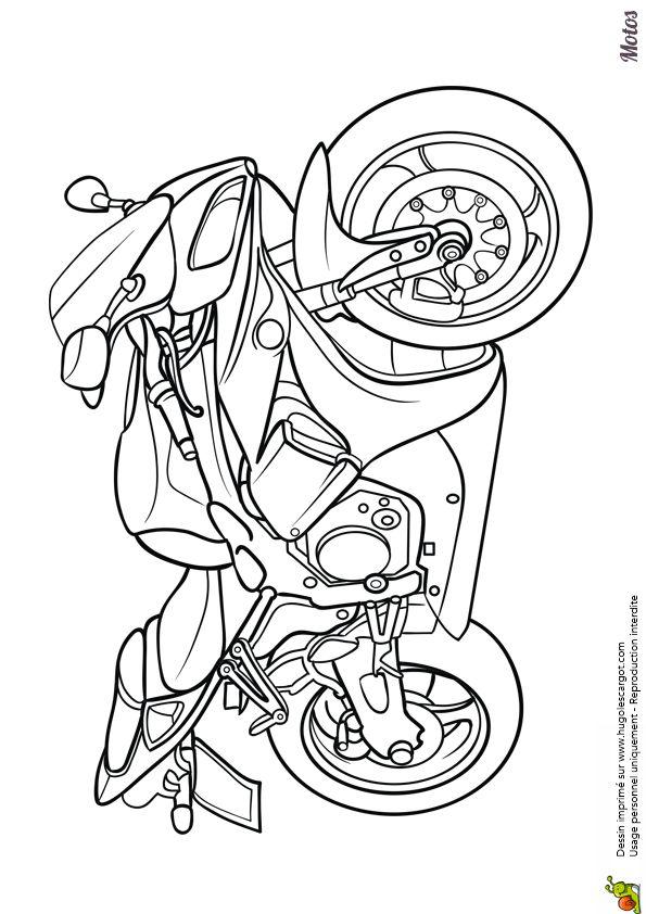 Les 68 meilleures images du tableau coloriages de motos et kartings sur pinterest motos - Coloriage de moto ...