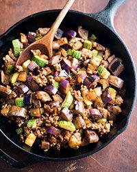 Eggplant and Chili Garlic Pork Stir-Fry Recipe on Food & Wine