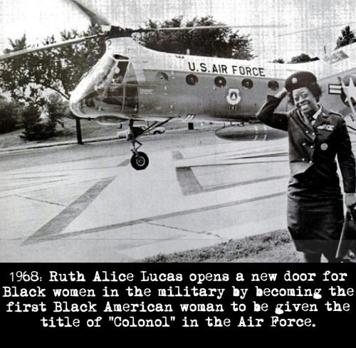 """Ruth Alice Lucas was given the title of """"Colonol"""" on May 26, 1968."""