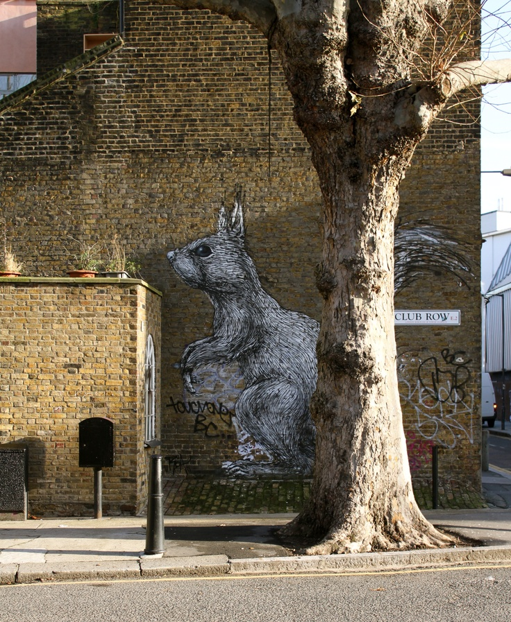 Shoreditch squirrel, London