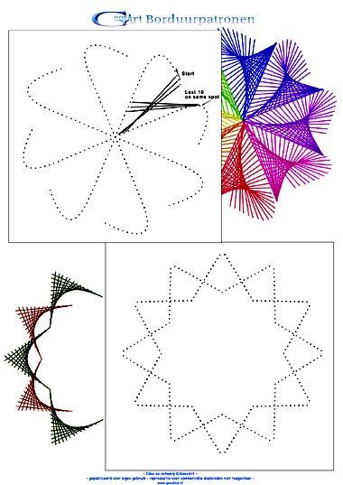 borduurrand en string art
