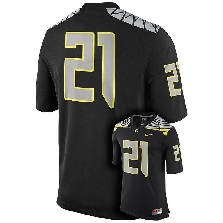 Men's Nike Oregon Ducks Game Replica Football Jersey, Black