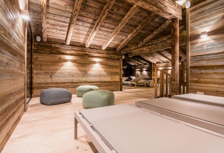 """Der Ruheraum in unserem Badhaus """"INNERE MITTE"""". #puradies #leogang #badhaus"""