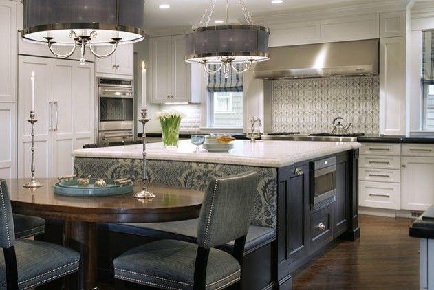 Best 25 kitchen island table ideas on pinterest kitchen for Kitchen island booth
