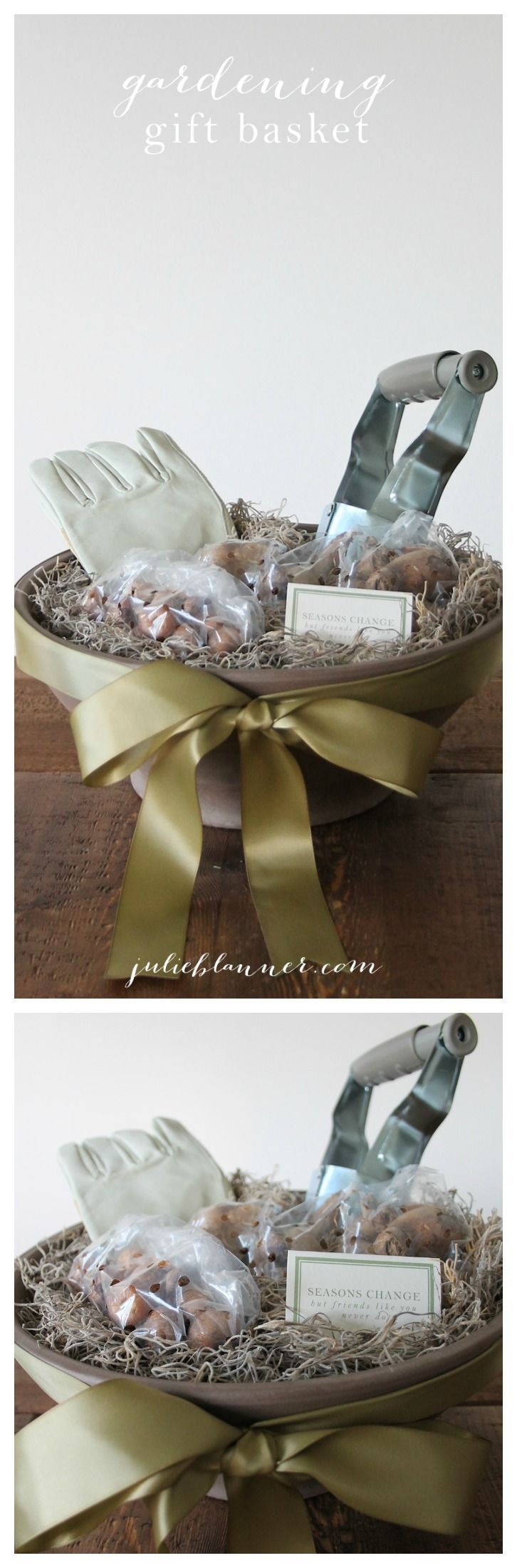 Gift the gift of a blooming spring by preparing a new homeowner or friend this fall with a gardening gift basket