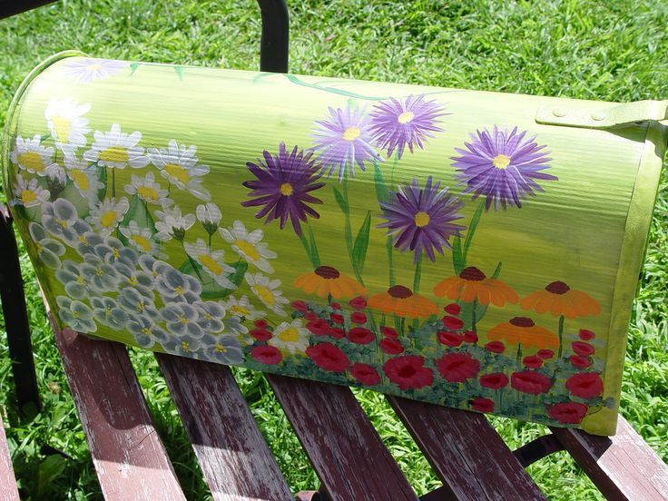 Hand Painted Mailbox Stuff I Ve Done Painted