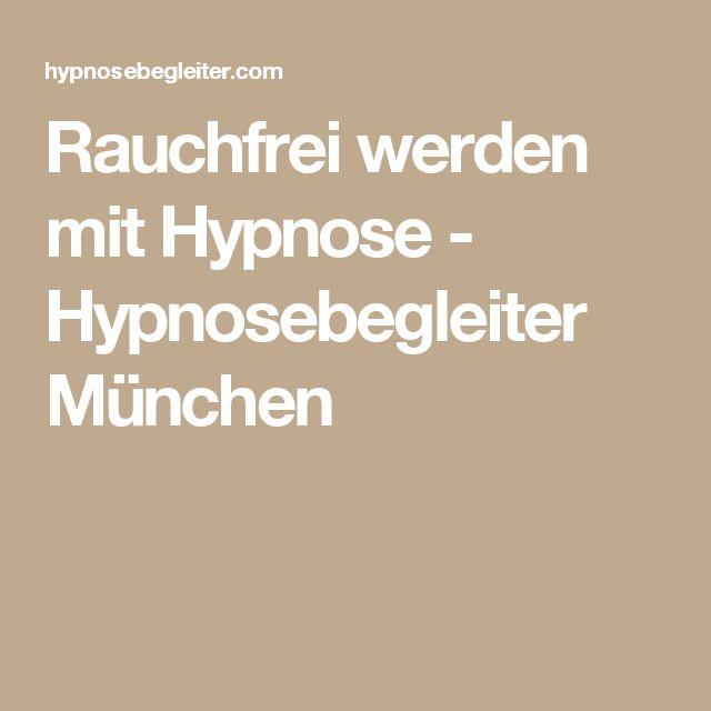 Rauchfrei werden mit Hypnose - Hypnosebegleiter München