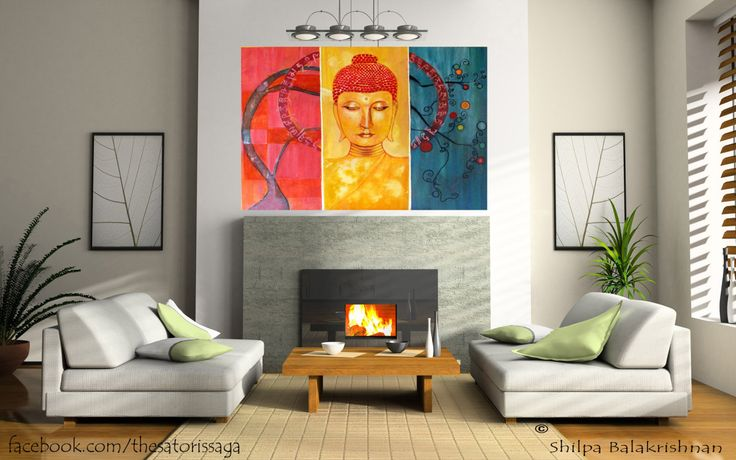 """The painting is from one of my theme """"world filled with colors"""". The concept totally goes akin with everything you can think off while painting a Buddha. What I mean is, if you observe the detaili..."""