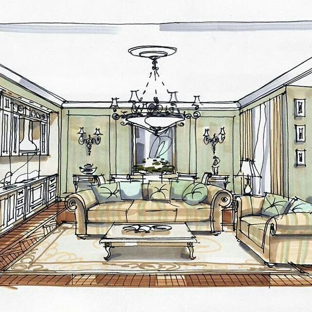 Mejores 546 im genes de interior sketches en pinterest for Bocetos de disenos de interiores