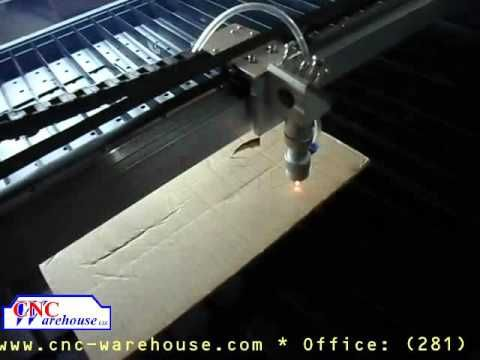 CNC Warehouse Laser cutting cardboard