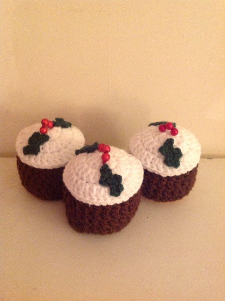 Crochet christmas puds covers chocolate orange