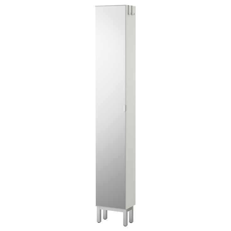"LILLÅNGEN Mirror cabinet with 1 door - white - IKEA - another option for bathroom storage.    Width: 11 3/4 ""  Depth: 8 1/4 ""  Height: 76 3/8 """