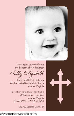Photo Baptism/Christening Invitations :: Blessed Pink Design