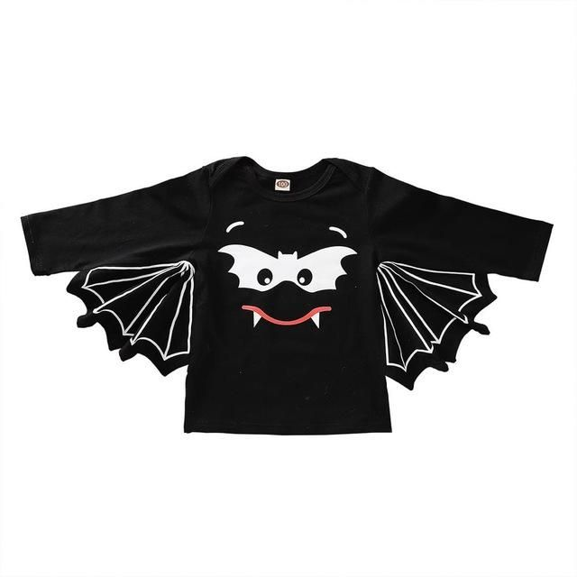 Toddler Newborn Baby Boy Girl Halloween Cosplay Bat Jumpsuit Romper Hat Outfit