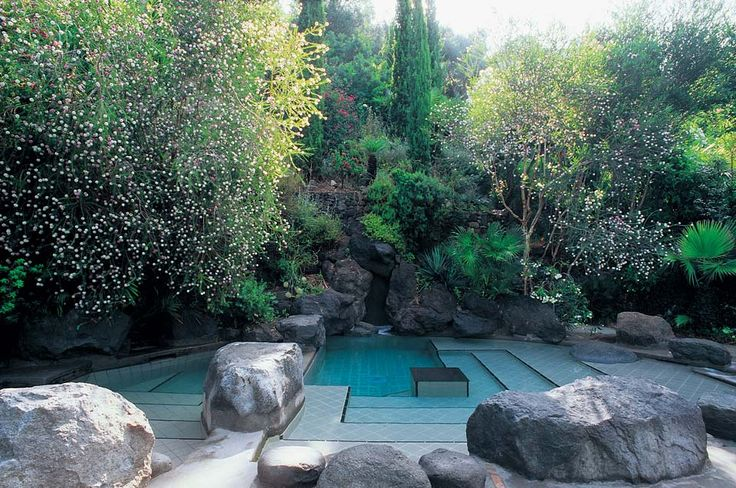 piscina unica e romantica parco termale Negombo - #ischia #terme