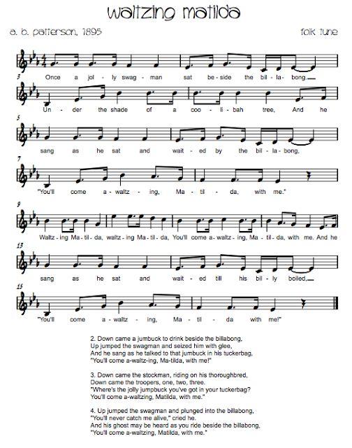Beth's Music Notes: Australian Folk Songs