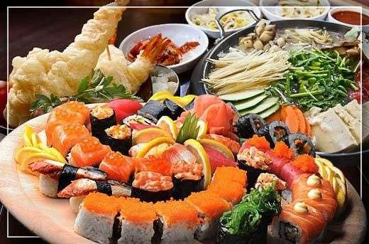 Eat-All-You-Can Japanese Buffet with Unlimited Drinks at Okiniiri Japanese Restaurant BF Homes for P420