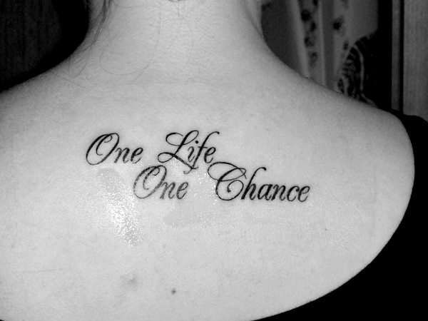 Sad Quote tattoos | Calculate your risks wisely and prepare hard for life does not give ...