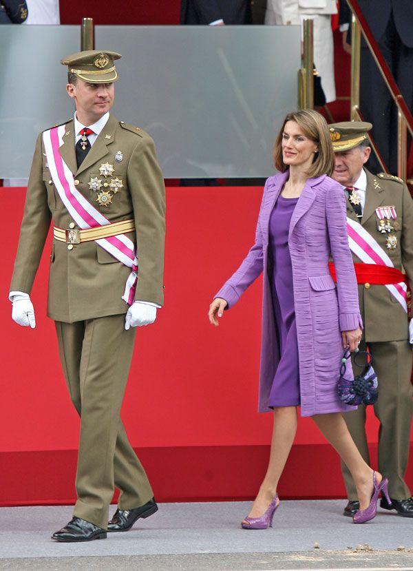 Doña Letizia en el Día de las Fuerzas Armadas de 2008