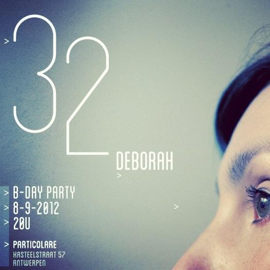 Uitnodiging verjaardag Deborah
