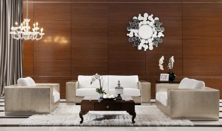 Divani Casa Cordova Modern Leather Living Room Set in Bronze & White will add an elegant touch to your home.  #elegance #beauty #royal