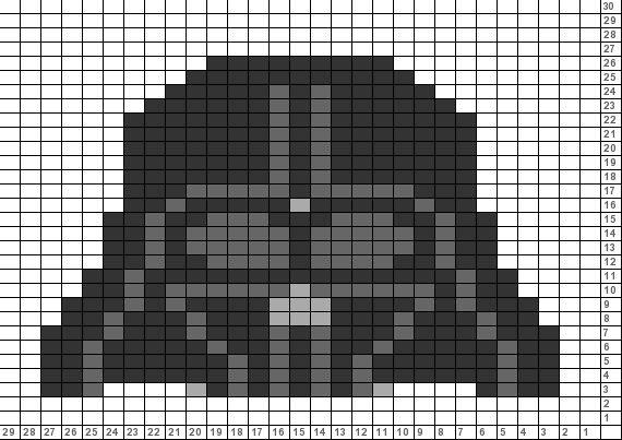 Tricksy Knitter Charts: Star Wars Darth Vader