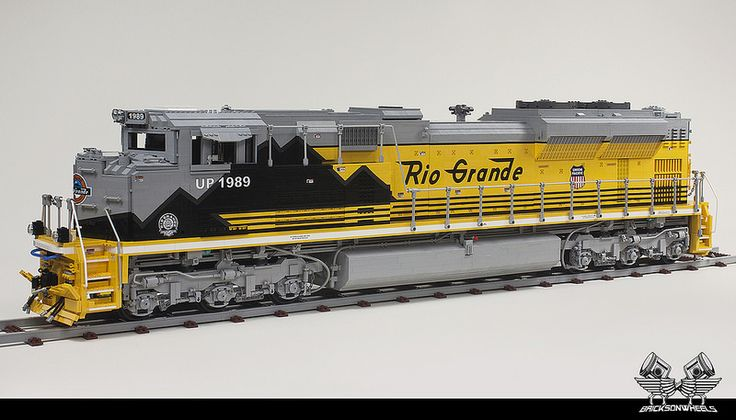 Union Pacific EMD SD70 Ace Locomotive in Lego, scaled 1:16 | by bricksonwheels