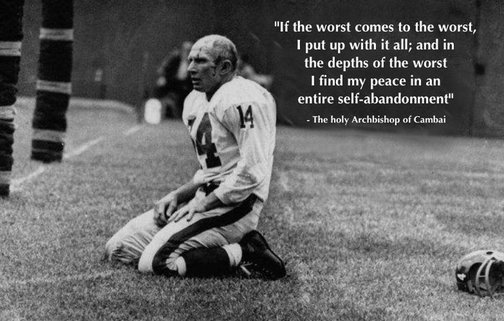 QB Y. A. Tittle 1964 end zone sack and concussion www