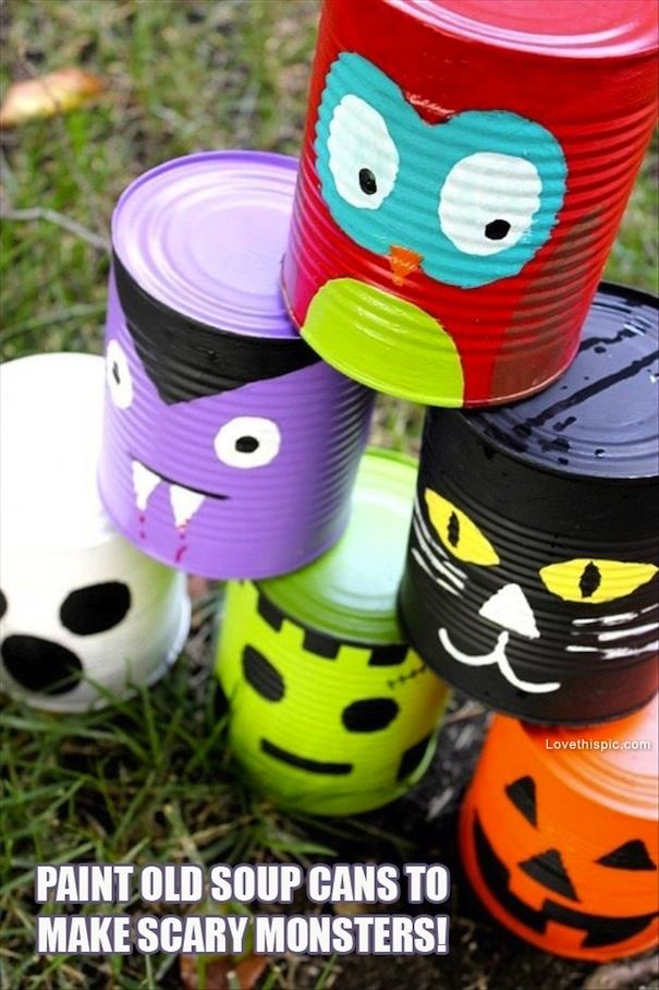 DIY Monster Cans Pictures, Photos, and Images for Facebook, Tumblr, Pinterest, and Twitter