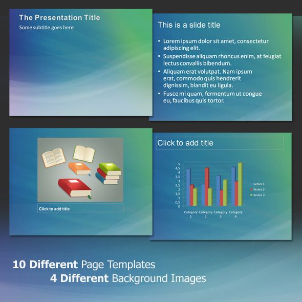 Aura Abstract - Professional PowerPoint Template