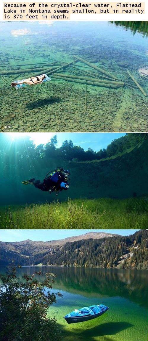 Clearest lake - montana.