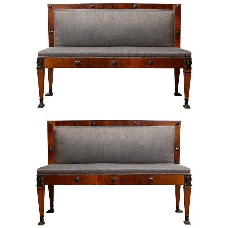 Pair of Italian Empire Benches | From a unique collection of antique and modern benches at http://www.1stdibs.com/furniture/seating/benches/