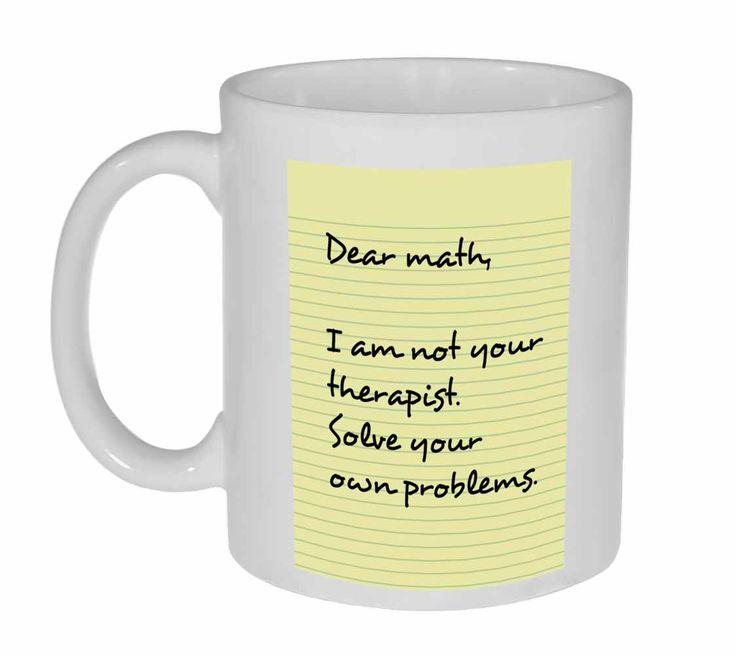 Dear Math Funny Coffee or Tea Mug