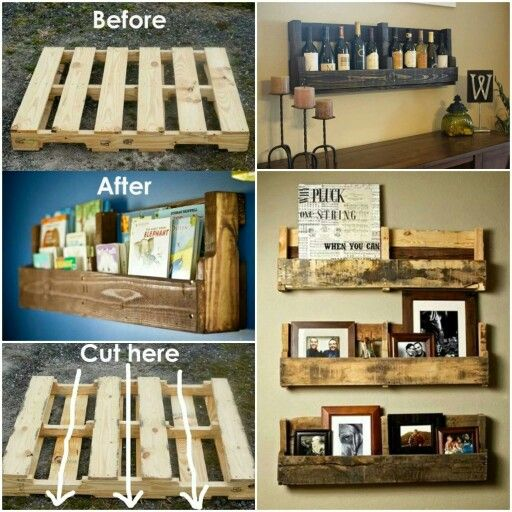 Love the idea of making a wine selection from the pallet