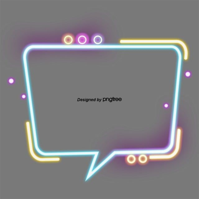 Fashionable Colourful Dialogue Box Neon Light Border Geometric Border Textbox Fashion Png Transparent Clipart Image And Psd File For Free Download Neon Lighting Clip Art Color