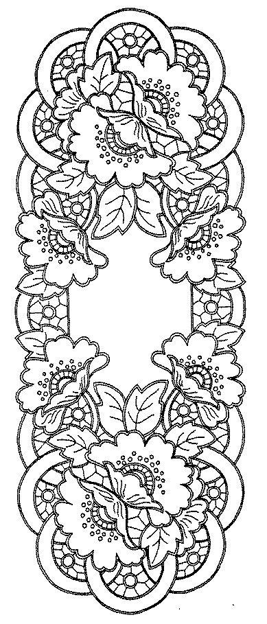 Ubrus obdélník richelieu, 90 x 34 cm