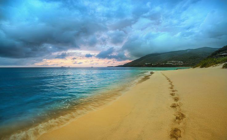 Trey Ratcliff - Virgin Gorda - Savannah Beach Sand at Sunset-X3.jpg