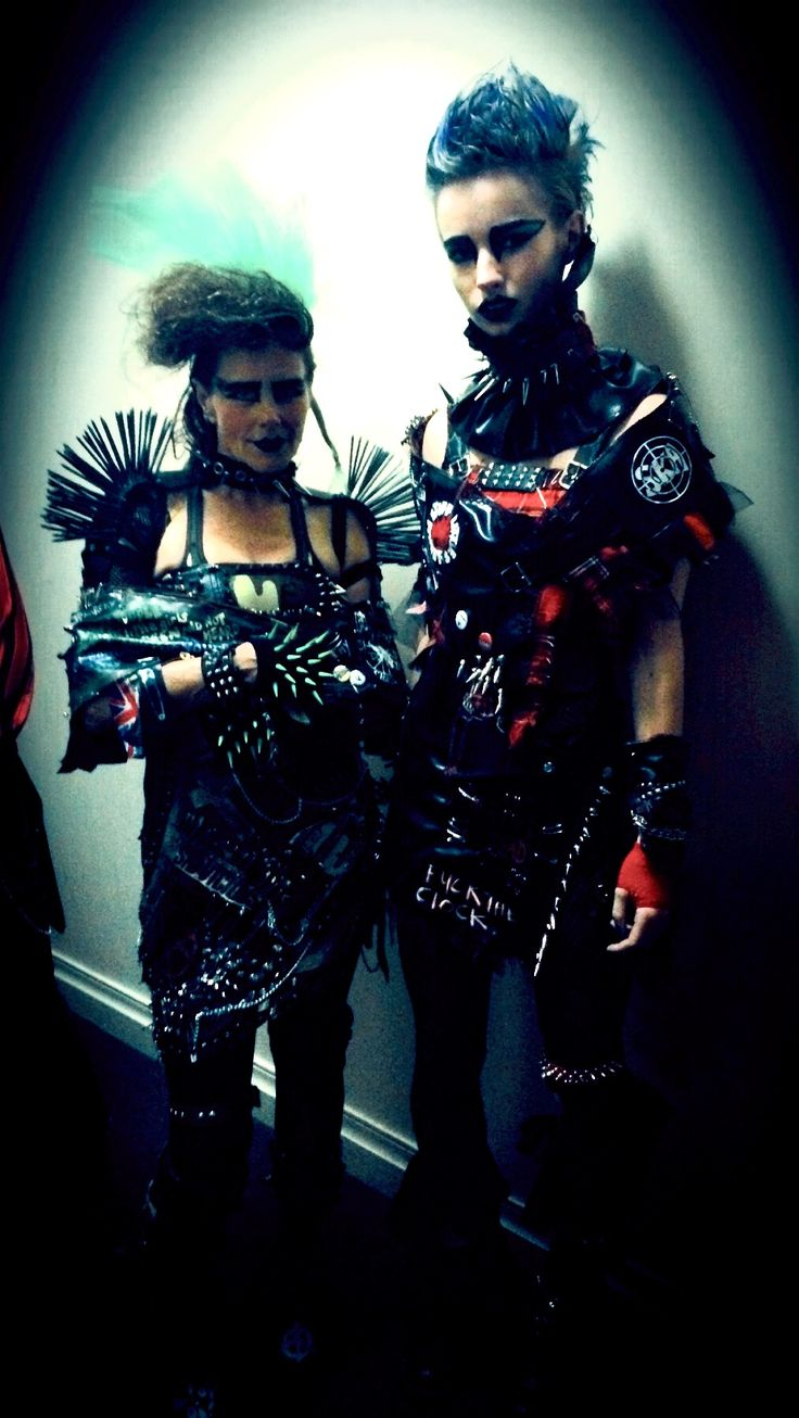 FIRST AND SECOND PLACES Punk: Chaos to Culture Fashion Design Comp
