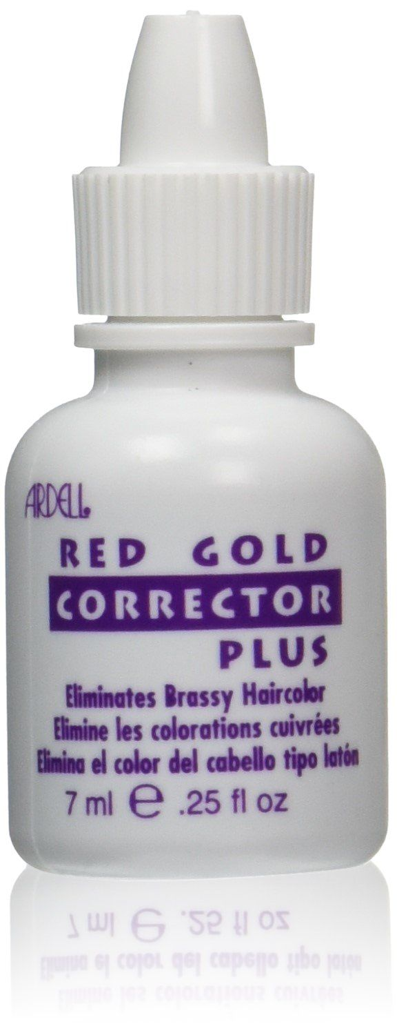 Ardell Hair Color Corrector, Red and Gold, 0.25 Ounce. Eliminates unwanted harsh red or gold tones. Refreshes blonde, gray or white hair. Conditions and corrects. Extra-strength formula.