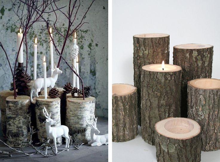 le bois brut sinvite dans la dco dans un style naturel et original pris par la dco scandinave le bois peut prsenter un aspect tr vitrine noel - Decoration De Noel Exterieur En Bois