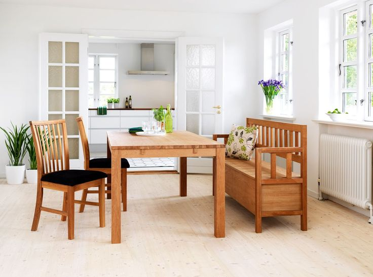 oiled oak wooden bench dining room chairs and matching table a fresh and classic - Matching Living Room And Dining Room Furniture