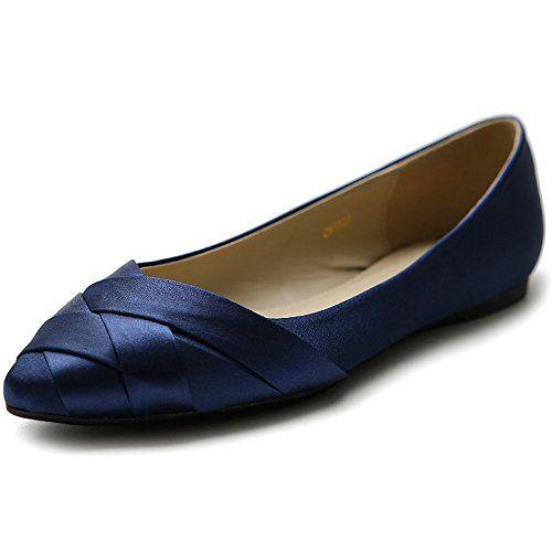 women's flats: Ollio Women's Shoe Ballet Weave Pointed Toe Dress Flat B(M)  US, Navy) - 368 Best OMG! Shoes! Images On Pinterest Omg Shoes, Shoes And Shoe