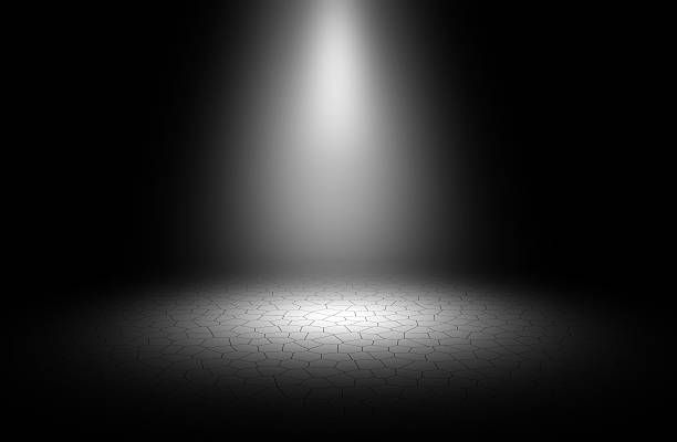 Stage Lights Background Black And White