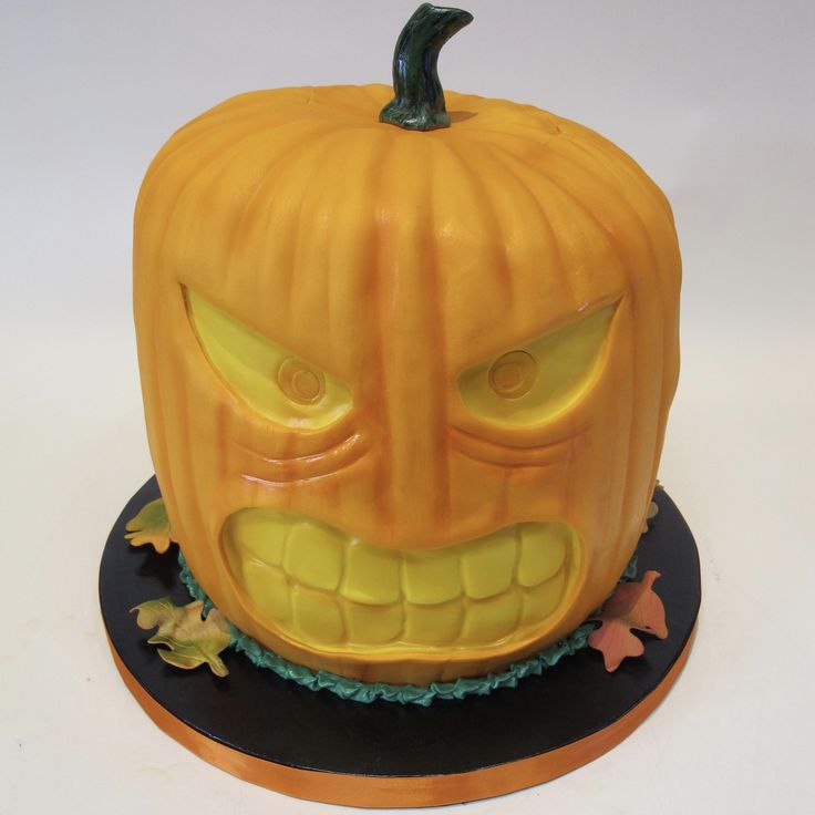 Carved Pumpkin Wedding Cake